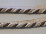 Jefferey Sage 1/2 inch Cord Trim Brown White Tan