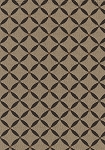Gold Black Diamond Pattern Upholstery Fabric