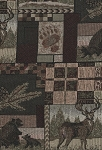 Wilderness Scene Brown Green Tan Upholstery Fabric