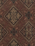 Maroon Beige Diamond Upholstery Fabric