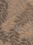 Gold Tan Leaf Pattern Upholstery Fabric