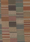 Tunnel Vision Rust Blue Beige Check Upholstery Fabric