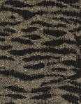 Jambo Tiger Black Beige Upholstery Fabric