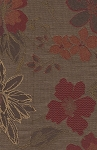 Odette Mahogany Maroon Brown Floral Upholstery Fabric