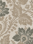 Elizabeth Pebble Ivory Floral Upholstery Fabric