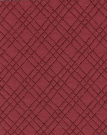 Alessio Crimson Red Diamond Upholstery Fabric