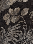 Jefferson Palms Leaves Tan Ivory Black Upholstery Fabric