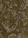 Green Black Leaf Tapestry Upholstery Fabric