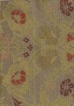 Victorian Style Tapestry Gold Maroon Upholstery Fabric