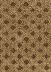 Brown Gold Diamond Pattern Upholstery Fabric