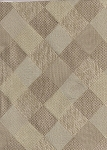 Modern Squares Diamond Pattern Upholstery Fabric White Tan Beige