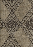 Handem Dove Tan Black Diamond Pattern Upholstery Fabric