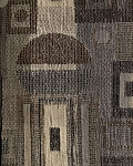 Cropcircle Nickel Modern Pattern Upholstery Fabric Black Gold Brown