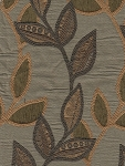 Jasper Foliage Green Gold  Upholstery Fabric