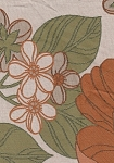 Poppy Grande Ivory Green Floral Upholstery Fabric
