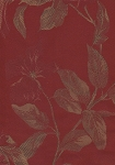 Red Gold Floral Design Upholstery fabric