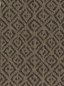 Beige Black Diamond Design Upholstery Fabric