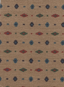 Tan Blue Green Western Style Upholstery fabric