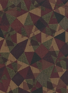 Green Maroon Tan Upholstery fabric