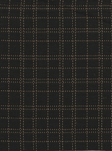 Banibel Black Tan Square Pattern Upholstery Fabric