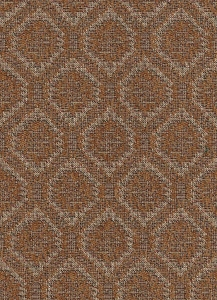 Light Brown Ivory Diamond Upholstery Fabric