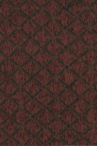Maroon Black Gold Diamond Pattern Upholstery Fabric