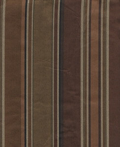 Brown Toned Formal Stripe Upholstery Fabric