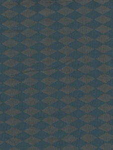 Blue Gold Diamond Pattern Upholstery Fabric