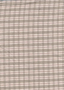 Pale Green Beige Plaid Upholstery Fabric