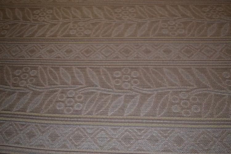 Pink Beige Tan Panel Stripe Upholstery Fabric