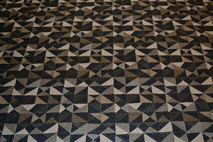 Kirabo Graphite Geometric Design Upholstery Fabric