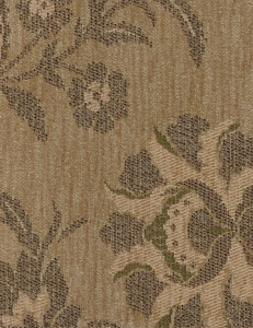 Beige Tan Brown Floral Upholstery Fabric