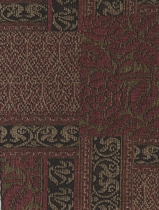 Maroon Beige Olive Chenille Upholstery Fabric