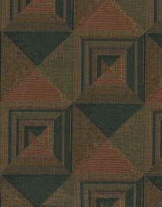 Green Gold Geometric Design Upholstery Fabric