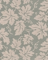 Sea Green Ivory Leaf Pattern Upholstery Fabric