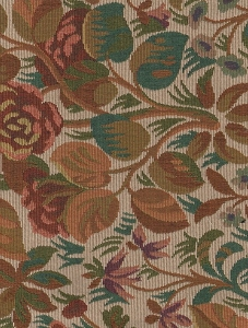Mackie Beige Red Green Floral Upholstery Fabric