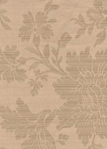 Two Tone Beige Floral Upholstery Fabric