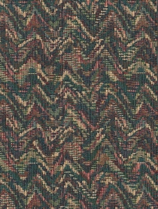 Green Blue Beige Zig Zag Upholstery Fabric
