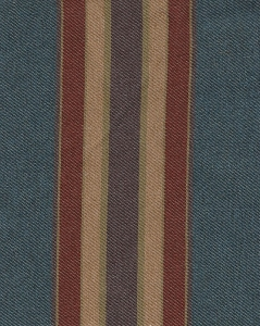 Blue Maroon Stripe Upholstery Fabric