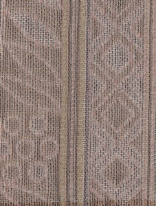 Pink Beige Tan Panel Stripe Upholstery Fabric