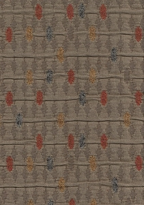 Olive Green Blue Rust Gold Diamond Upholstery Fabric