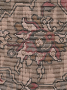 Beige Olive Tan  Formal Design Upholstery Fabric