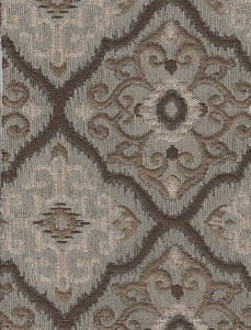 Richloom Rising Gray Victorian Design Upholstery Fabric