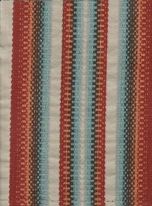 Cottonwood Guava Maroon Blue Stripe Upholstery Fabric