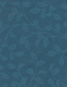 Solid Royal Blue Vine Design Upholstery Fabric