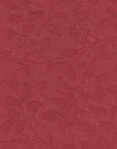 Solid Red Vine Design Upholstery Fabric