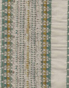 Magi Amazon Olive Teal Ivory Stripe Upholstery Fabric