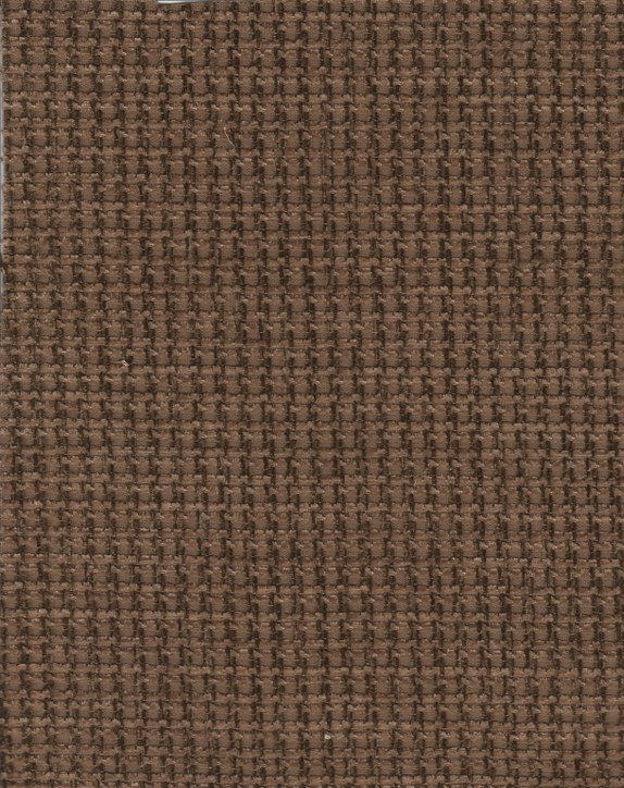 Two Tone Brown Check Pattern Upholstery Fabric