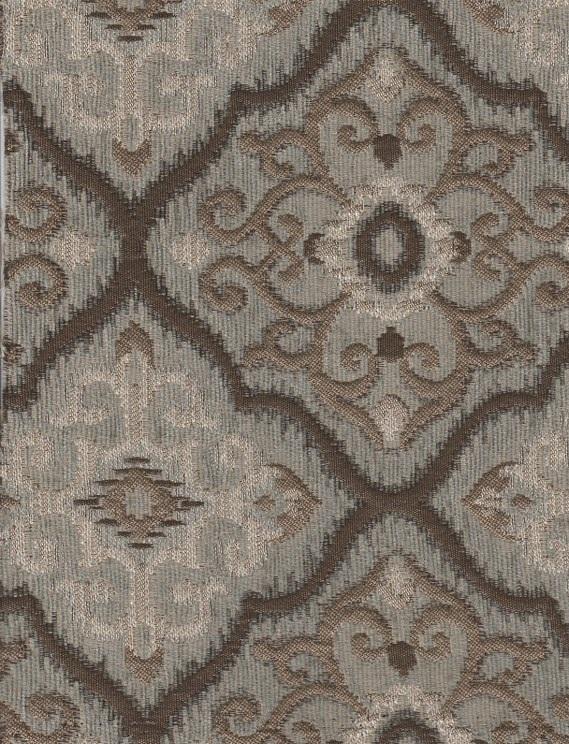 Richloom Rising Gray Victorian Design Upholstery Fabric
