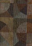 Cartwheel Mink Modern Brown Blue Gold Upholstery Fabric